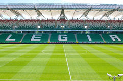 Legia Warszawa empty football stadium Stock Photo
