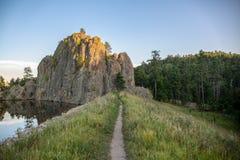 Legion fördämning för sjöjord Custer State Park South Dakota fotografering för bildbyråer