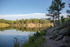 Legion sjö Custer State Park arkivbilder