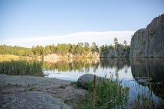 Legion sjö Custer State Park royaltyfria bilder