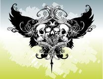 Legion of skulls vector illustration Royalty Free Stock Photos