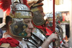 Legionary. Roman soldiers mused at Romanian Tourism Fair Bucharest, Romania Stock Photography