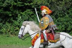 Legionnaire On The Horse Royalty Free Stock Photography