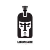 Legionnaire - vector logo concept illustration. Soldier logo sign. Warrior logo sign. Man face illustration. Royalty Free Stock Photo
