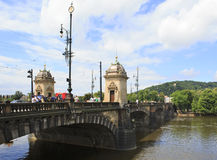 Legions Bridge in Prague. Royalty Free Stock Image
