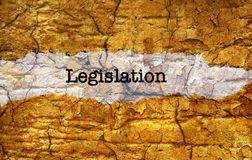 Legislation grunge concept Stock Photo