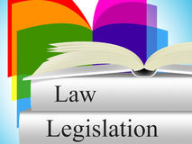 Legislation Law Represents Legality Crime And Juridical. Law Legislation Showing Lawyer Lawfulness And Judiciary Royalty Free Stock Image