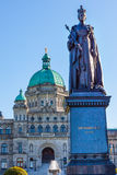 Legislative Buildiing Queen Statue Victoria Canada Stock Photography