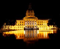 Legislative Building In Edmonton Alberta Canada. Legislative Building with reflecting pool at night in Edmonton Alberta Canada royalty free stock photo