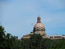 Legislative Building Edmonton, Alberta. Dome of Legislative Building in Edmonton Alberta against a blue sky royalty free stock image