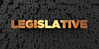 Legislative - Gold text on black background - 3D rendered royalty free stock picture. This image can be used for an online website banner ad or a print Royalty Free Stock Photography