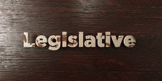 Legislative - grungy wooden headline on Maple  - 3D rendered royalty free stock image Royalty Free Stock Images