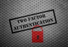 Legitimation för två faktor royaltyfri bild