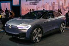 legitimation 2017 för VW Shanghai för auto show Royaltyfria Bilder