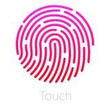 legitimationapp-symbol Fingeravtryckvektorillustration Arkivbilder