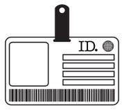 legitimationkortkontur Arkivbilder
