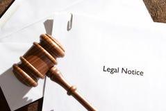 Legitimationshandlingar för lagligt meddelande Arkivbilder