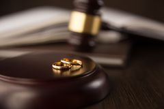 Legitimationshandlingar för skilsmässabegreppsförbindelse arkivfoto