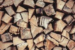 Legna da ardere - albero di cenere e della quercia Immagine Stock