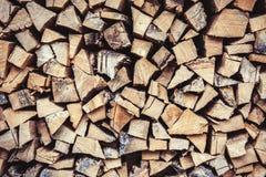 Legna da ardere - albero di cenere e della quercia Fotografia Stock Libera da Diritti