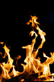 Legna da ardere bruciante Immagini Stock Libere da Diritti
