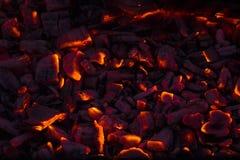 Legna da ardere bruciante nel camino Fotografie Stock Libere da Diritti