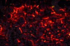 Legna da ardere bruciante nel camino Fotografie Stock