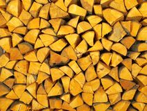 Legna da ardere dal legno dell'ontano Immagini Stock Libere da Diritti