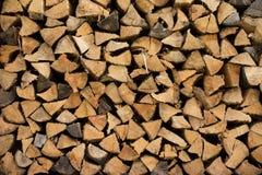 Legna da ardere impilata Fotografie Stock Libere da Diritti
