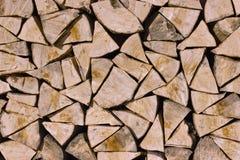 Legna da ardere tagliata piegata Fotografie Stock