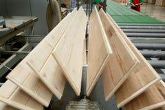 legname della pavimentazione della fabbrica Immagini Stock