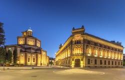 Legnano-Basilika und Rathaus Stockfotos