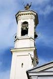 Legnano gammalt abstrakt begrepp i dag för klocka för kyrkligt torn solig Royaltyfri Foto