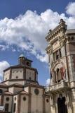 Legnano, Italia: Iglesia del palacio y de San Magno de Malinverni imagenes de archivo