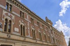 Legnano, Italy: Malinverni Palace. Legnano, Milan, Lombardy, Italy: the historic building known as Palazzo Malinverni, hosting the town hall royalty free stock image