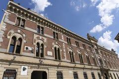 Legnano, Italy: Malinverni Palace. Legnano, Milan, Lombardy, Italy: the historic building known as Palazzo Malinverni, hosting the town hall stock photography