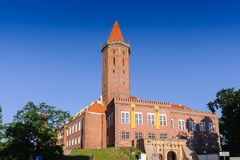 Architecture  in Legnica. Poland. LEGNICA, POLAND - JUN 16, 2014: Castle of Legnica. Legnica is a former capital of the the Legnica Voivodeship  (1 June 1975 Royalty Free Stock Photos