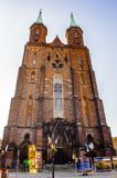 Architecture in Legnica. Poland. LEGNICA, POLAND - JUN 16, 2014: Evangelical-Augsburg Church of the Virgin Mary in Legnica in Poland. Legnica is a former capital stock image