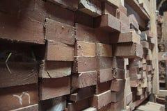Legno alla fabbrica di legno del mulino fotografia stock libera da diritti