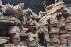 Legno alla fabbrica di legno del mulino immagini stock