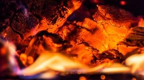 Legno bruciante nella fornace Immagine Stock Libera da Diritti