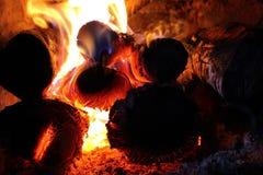 Legno Burning Immagine Stock Libera da Diritti