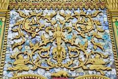 Legno che scolpisce la Tailandia Fotografie Stock