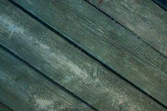 Legno d'annata colorato luminoso del turchese vecchio Immagini Stock