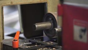 Legno d'insabbiamento che elabora legno che elabora i bordi stock footage