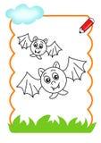 Legno da essere colore, pipistrelli Fotografie Stock Libere da Diritti