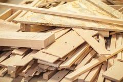 Legno dei rifiuti legnosi Fotografie Stock