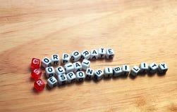 Legno del CSR Immagine Stock
