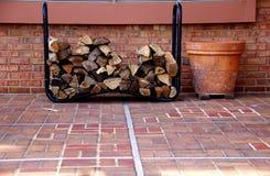 Legno del fuoco Fotografie Stock