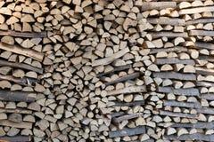 Legno del materiale del riscaldamento Fotografie Stock